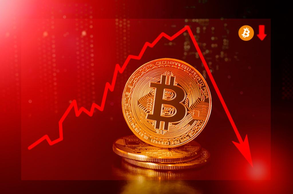 ビットコイン価格下落